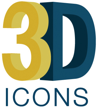 3D icons Logo